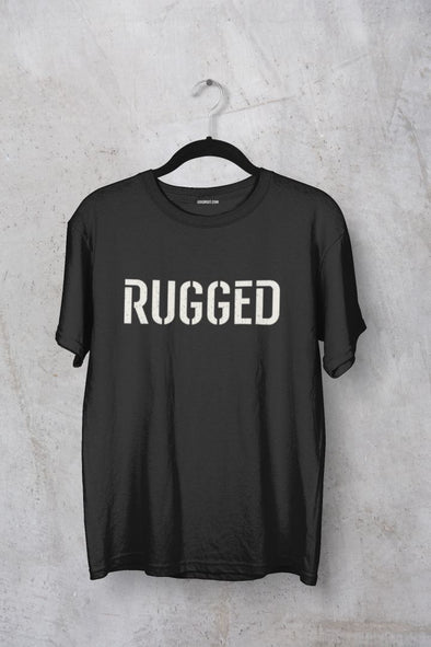 Rugged Men's Typography T-shirt - GOGIRGIT.COM