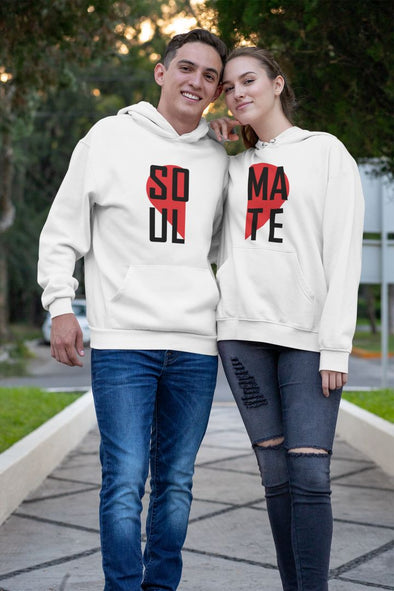 Soulmate white Couple Hoodies gog