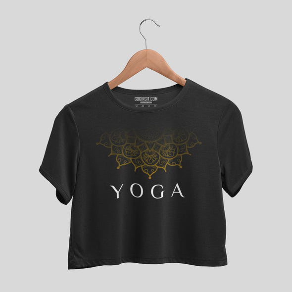 Yoga Mandala Women's Olive Green Yoga Crop Top
