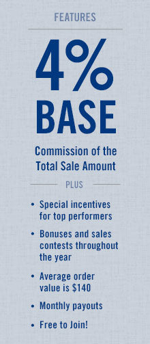 Mikasa Affiliate Program features 4% Base Commission of the total sale amount PLUS special incentives for top performers, bonuses, sales contests and monthly payouts. Free to join!