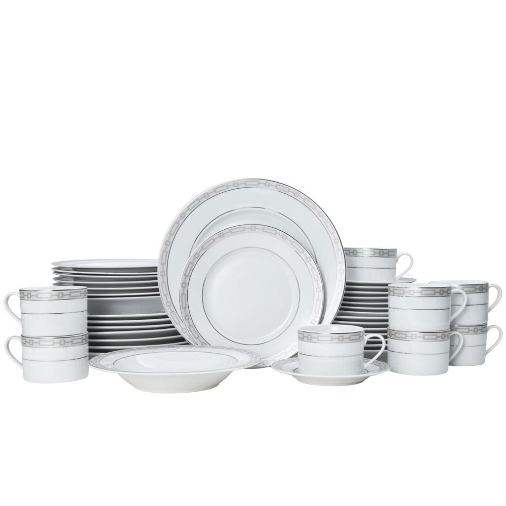 Mikasa Layton Platinum 40 Piece Dinnerware Set, Service For 8