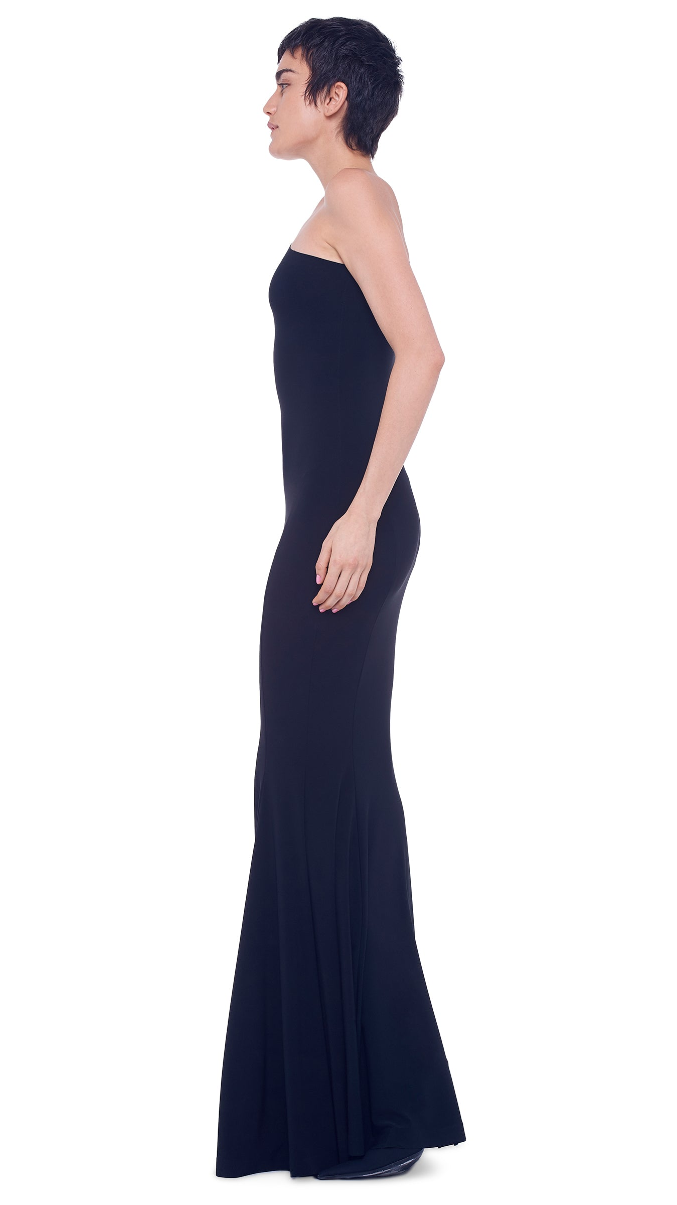 ONE SHOULDER FISHTAIL GOWN