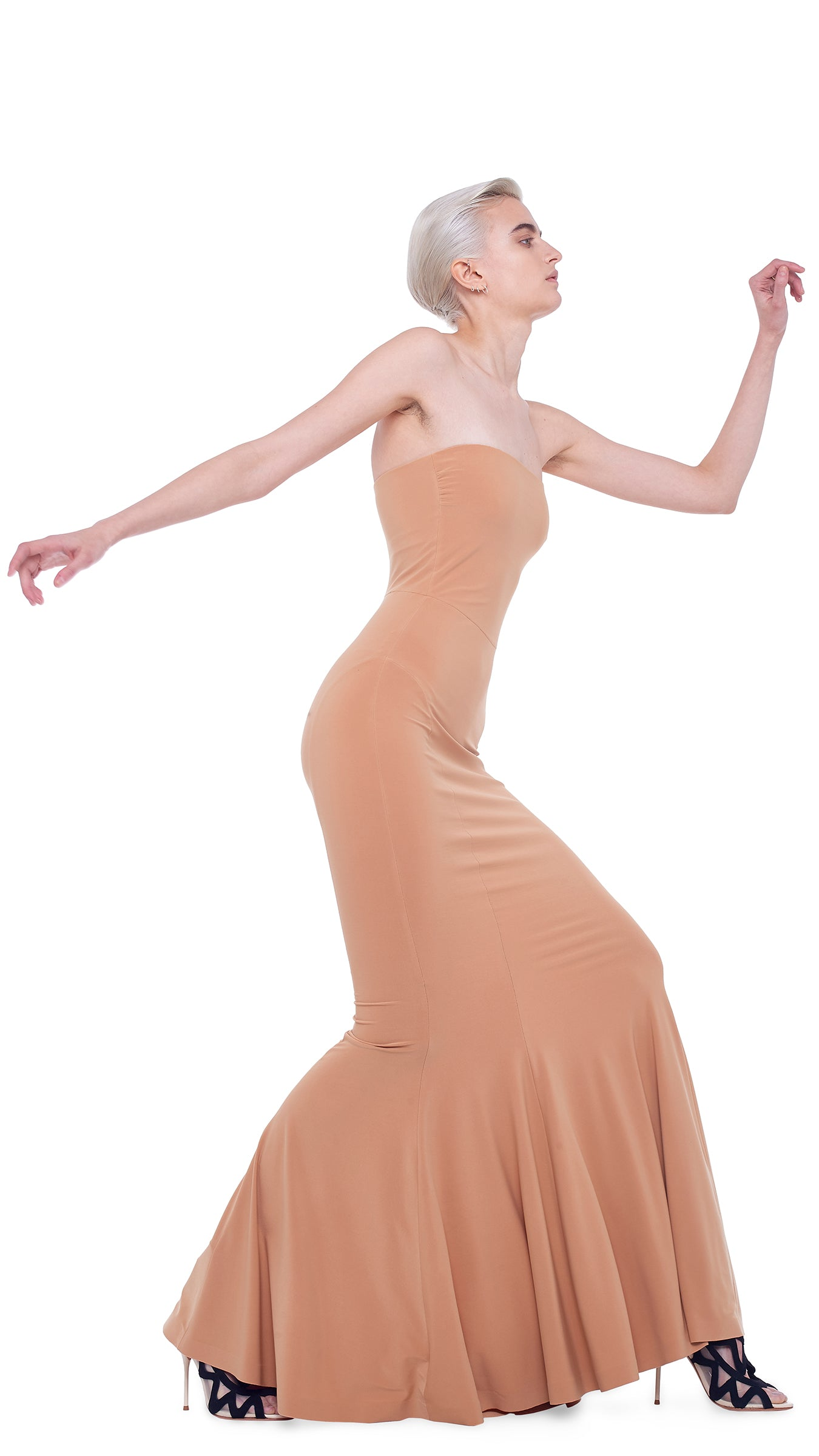 STRAPLESS FISHTAIL GOWN