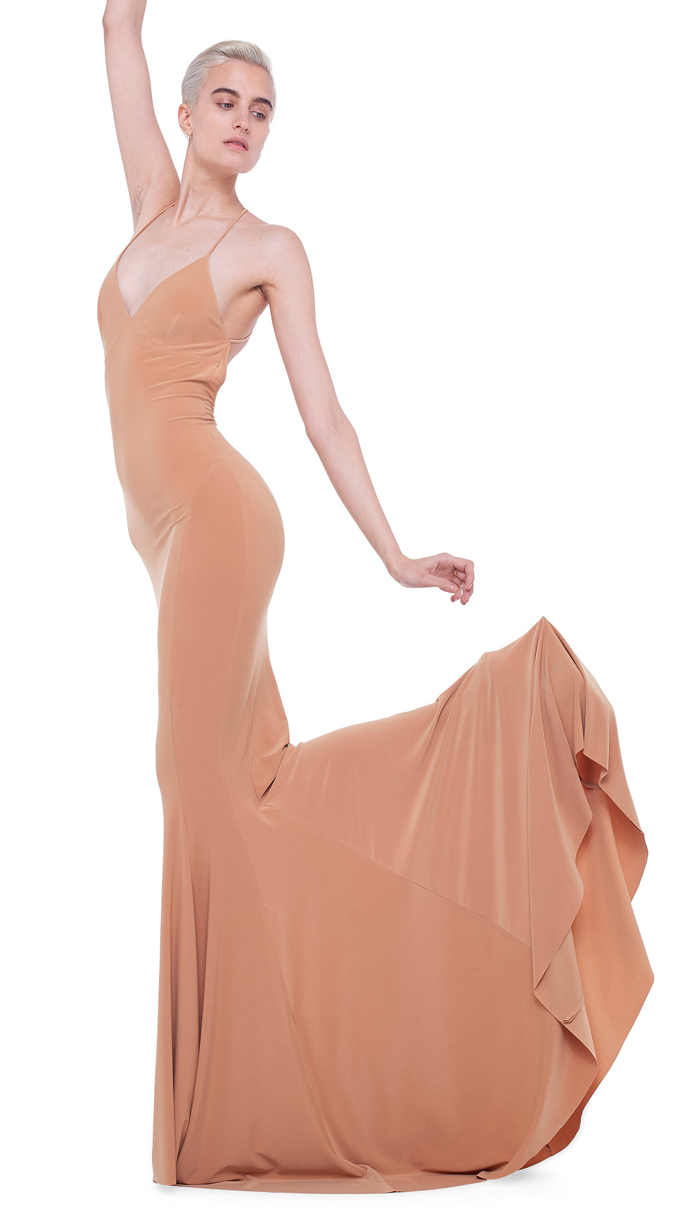 LOW BACK SLIP MERMAID FISHTAIL GOWN