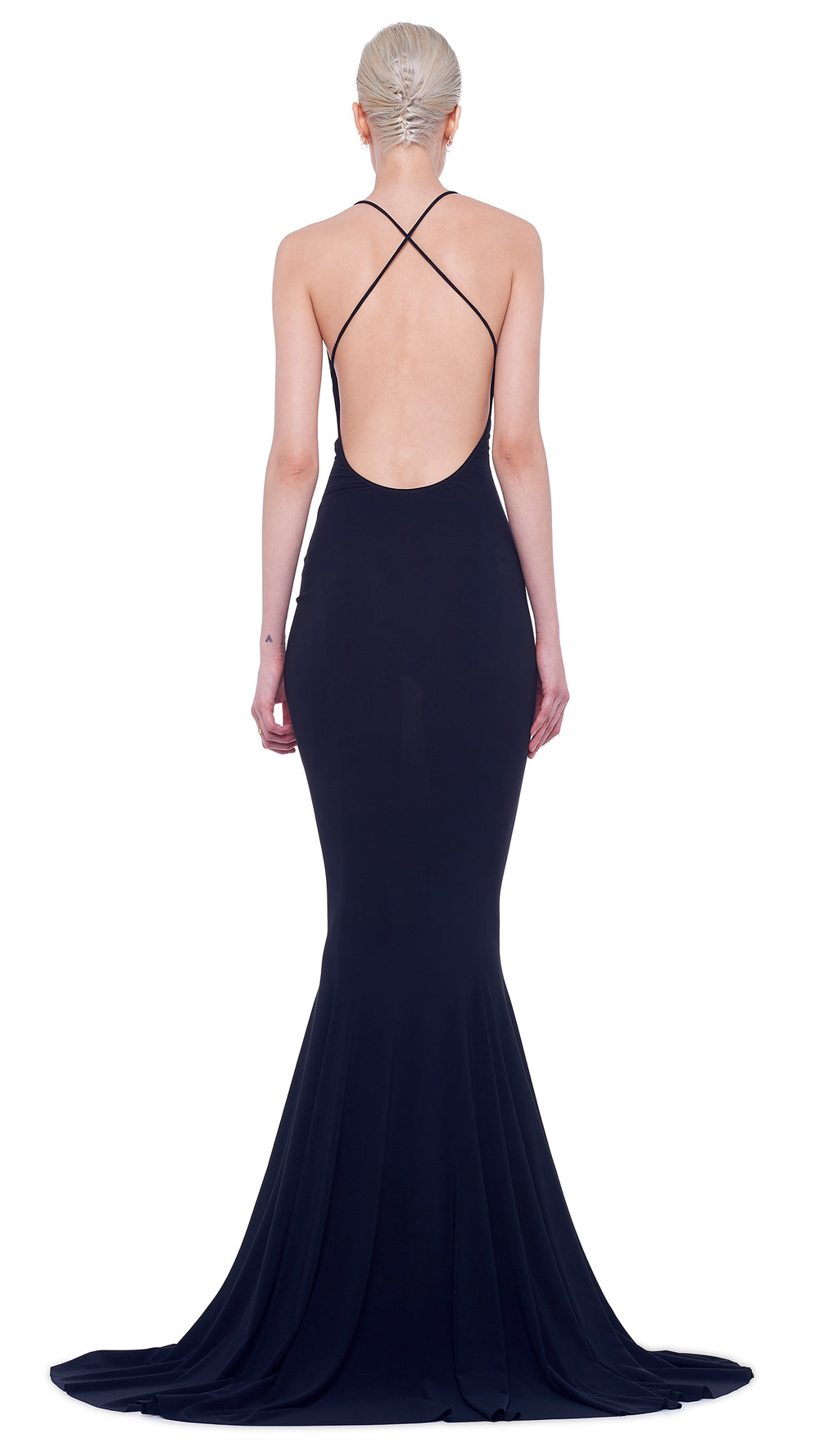 LOW BACK FISHTAIL GOWN