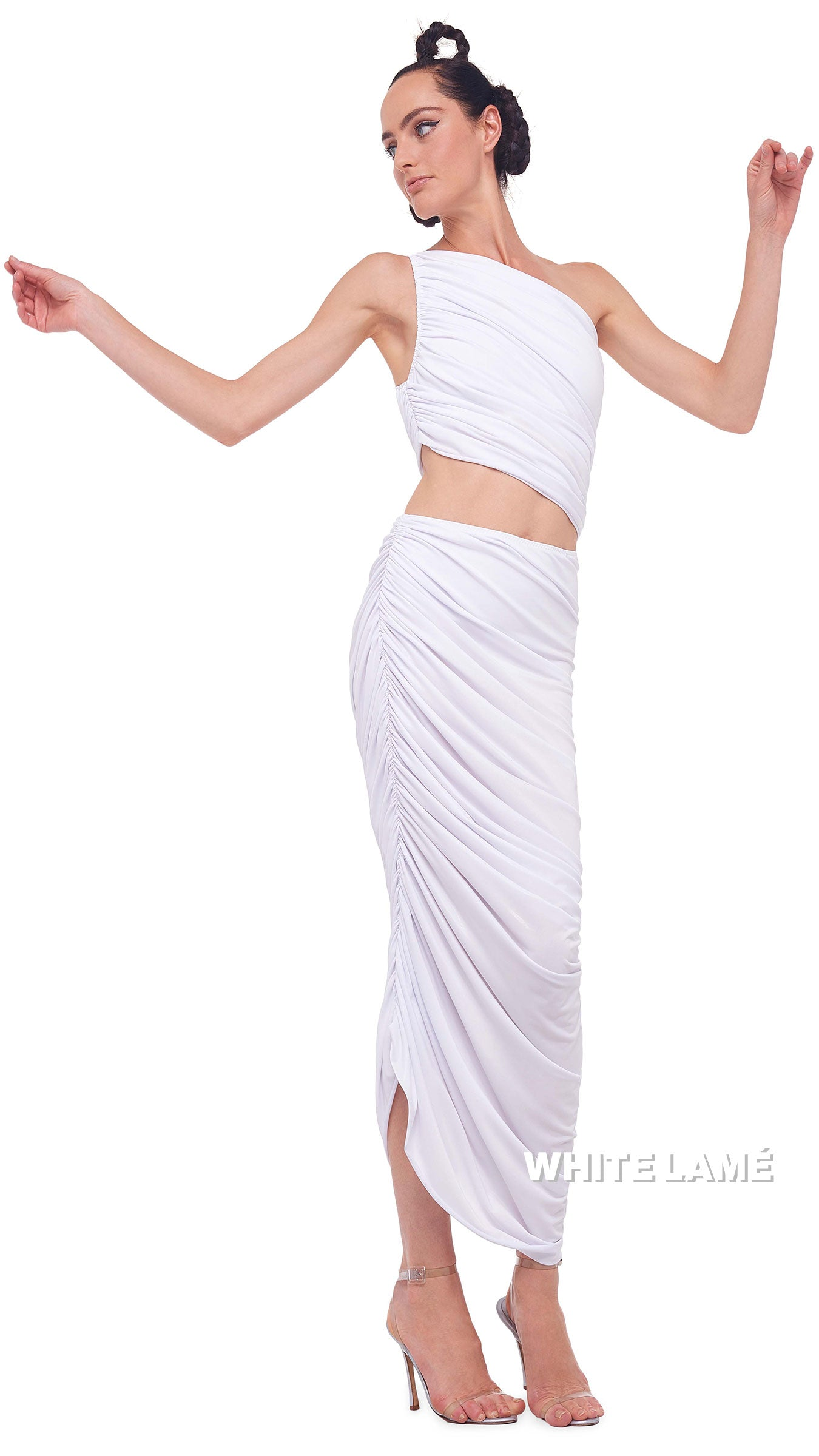 LAMÉ DIANA LONG SKIRT