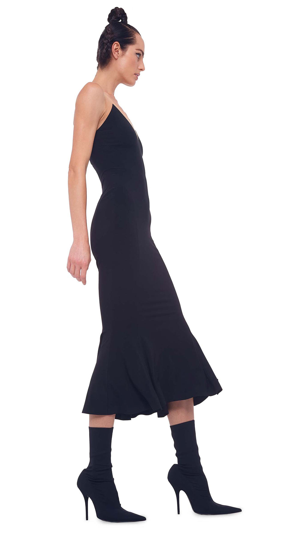 RACER FISHTAIL DRESS TO MIDCALF