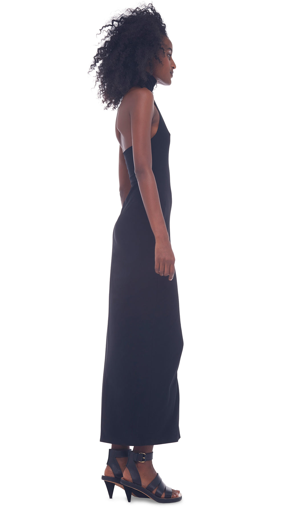HALTER TURTLE SLIT GOWN