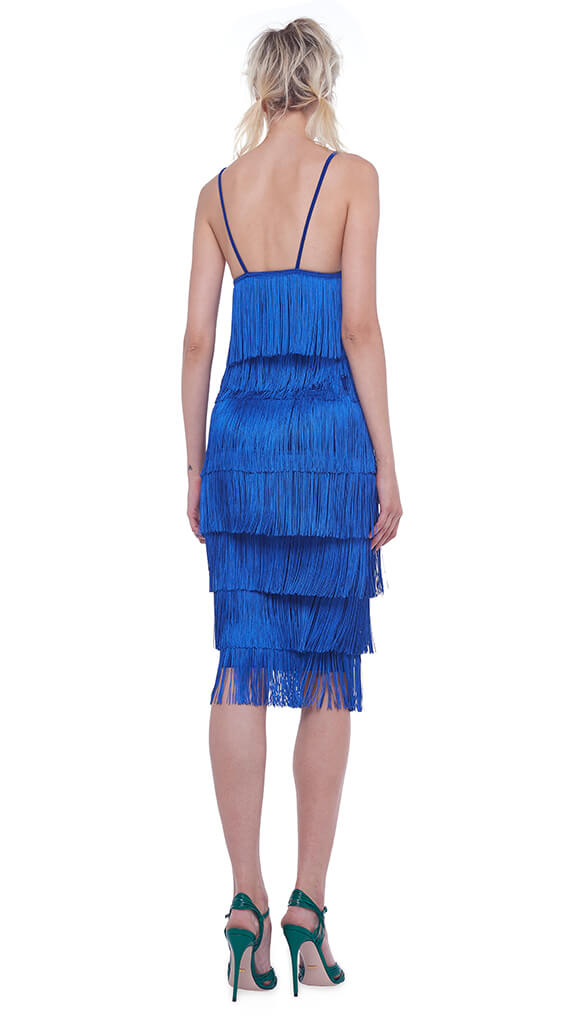 ALL OVER FRINGE TUBE SKIRT