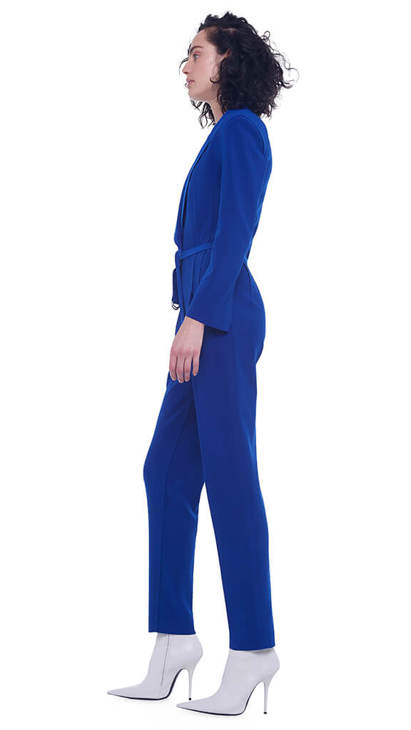 SINGLE BREASTED TAPERED LEG JUMPSUIT