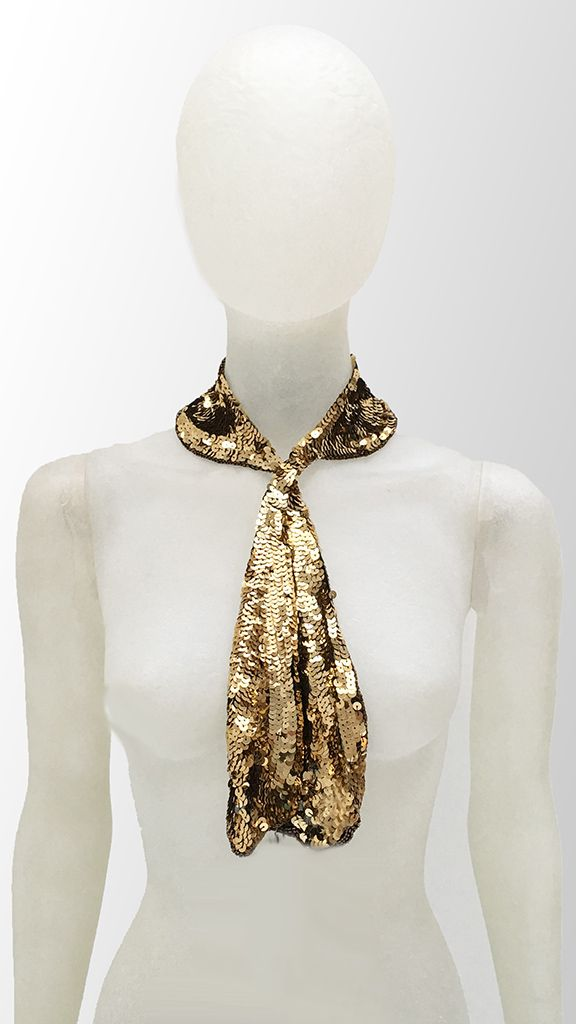 COLLAR TIE GOLD SEQUINS - 1