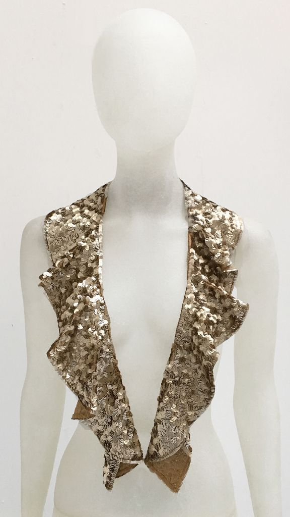 RUFFLED SEQUINED COLLAR - 3