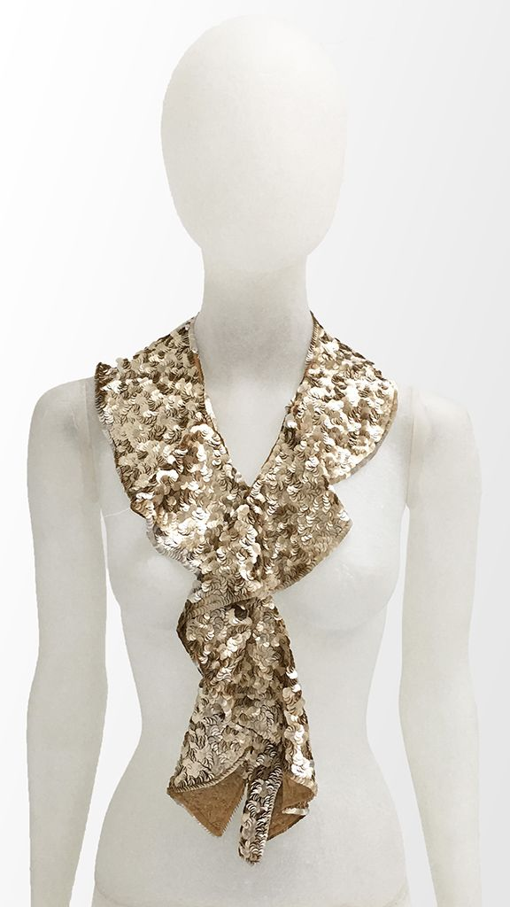 RUFFLED SEQUINED COLLAR - 1