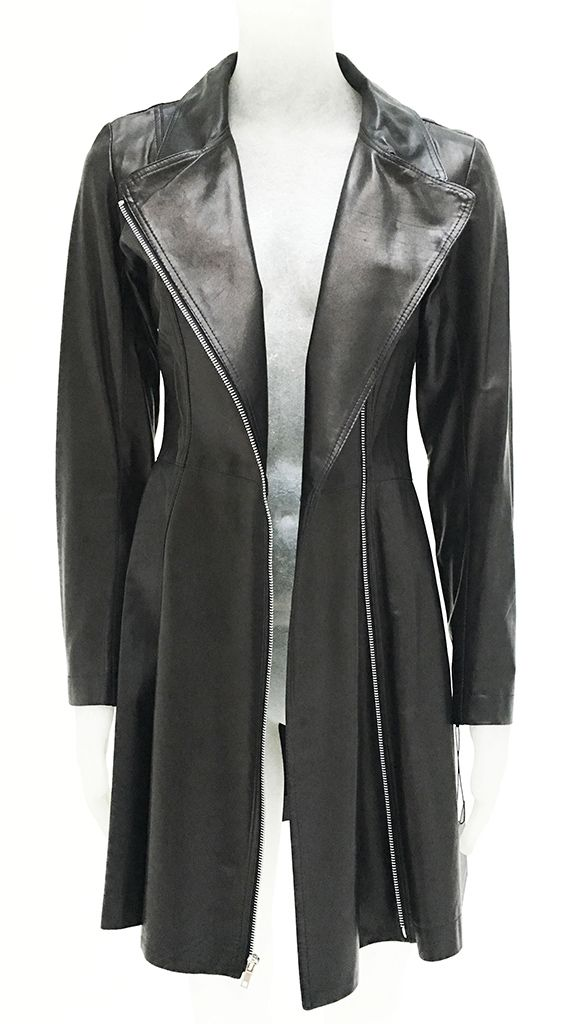 LEATHER TRENCH - 1