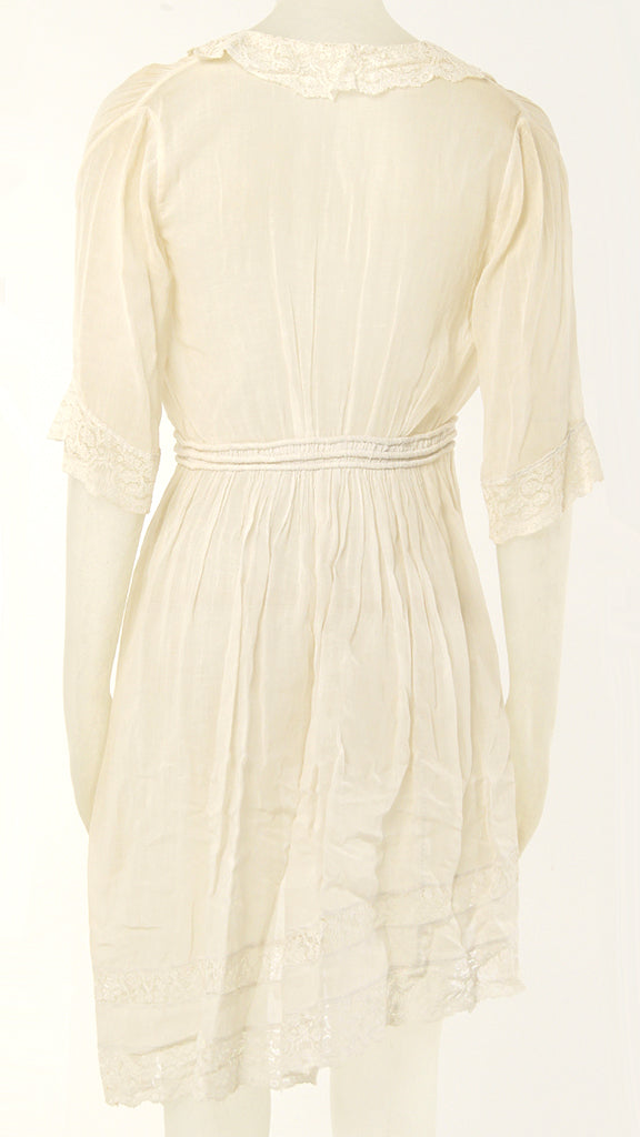 3/4 SLEEVE HIGH LOW LACE DRESS - 2