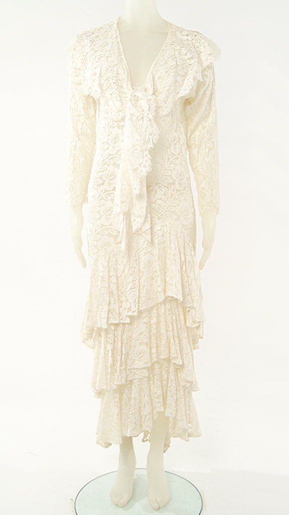 LONG SLEEVE LACE VICTORIAN DRESS - 1