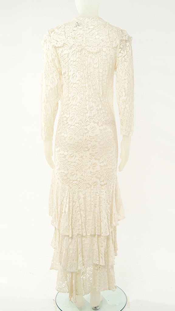 LONG SLEEVE LACE VICTORIAN DRESS - 2
