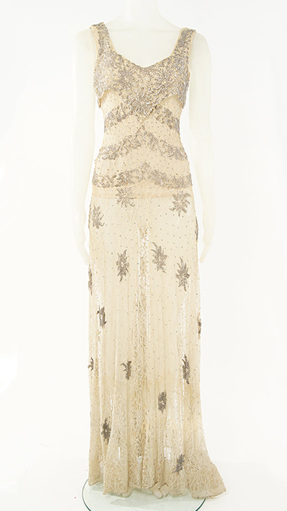 BEADED LACE GOWN - 1