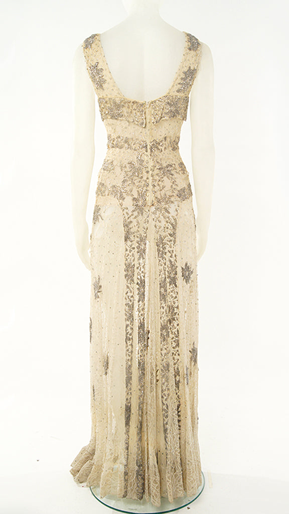 BEADED LACE GOWN - 2