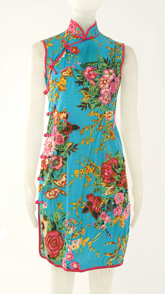 FLORAL BEADED CHEONGSAM - 1