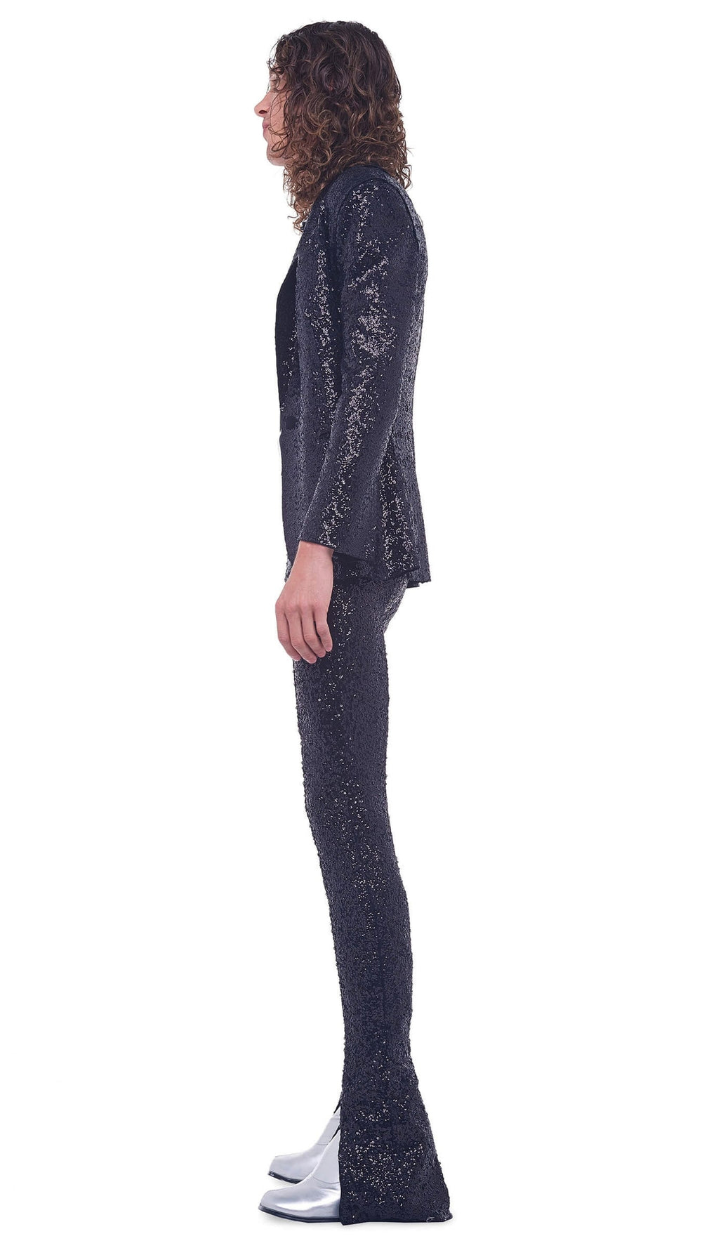 OVERLAPPING SEQUIN SPAT LEGGING