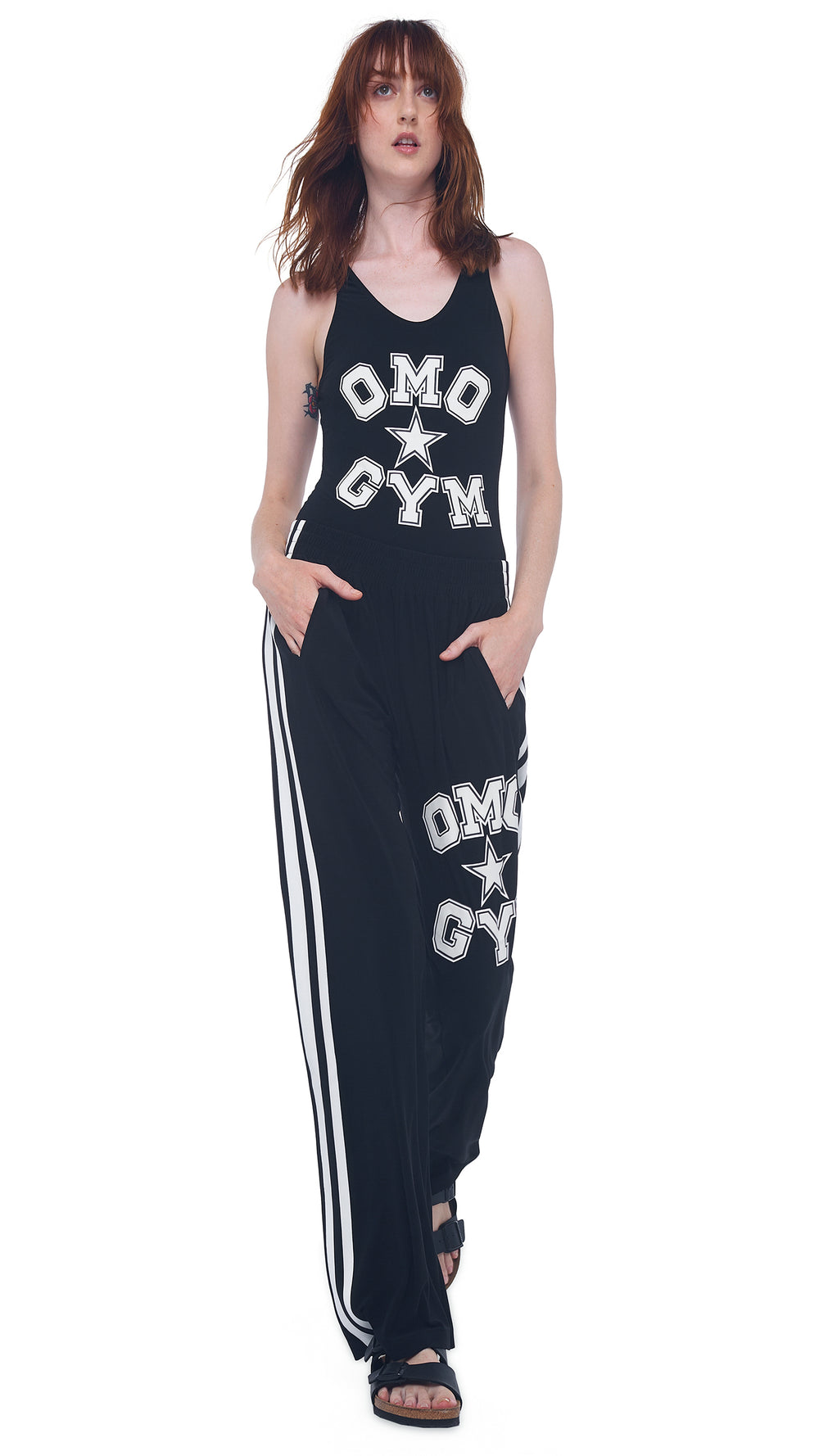 OMO SIDE STRIPE BF SWEATPANT