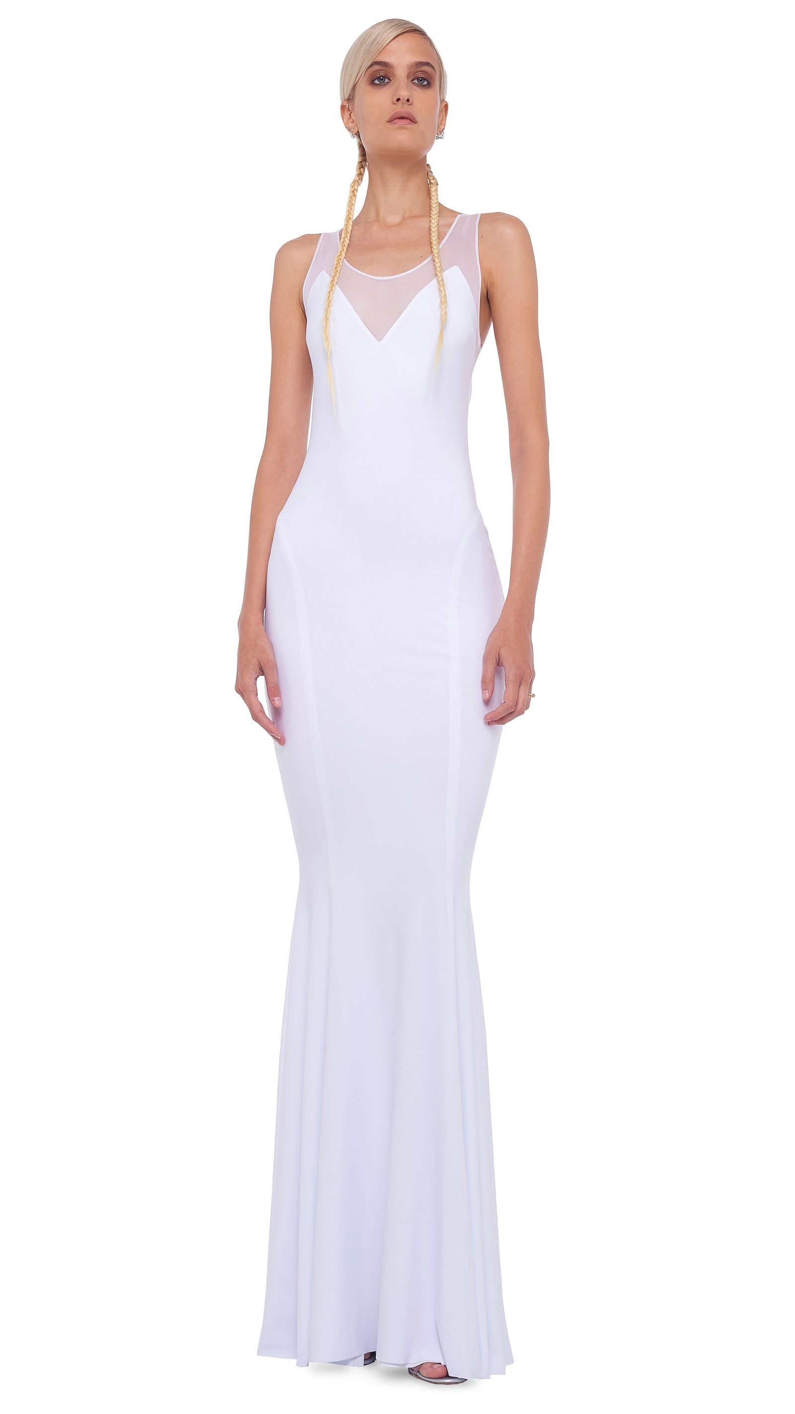 RACER FISHTAIL GOWN - 1