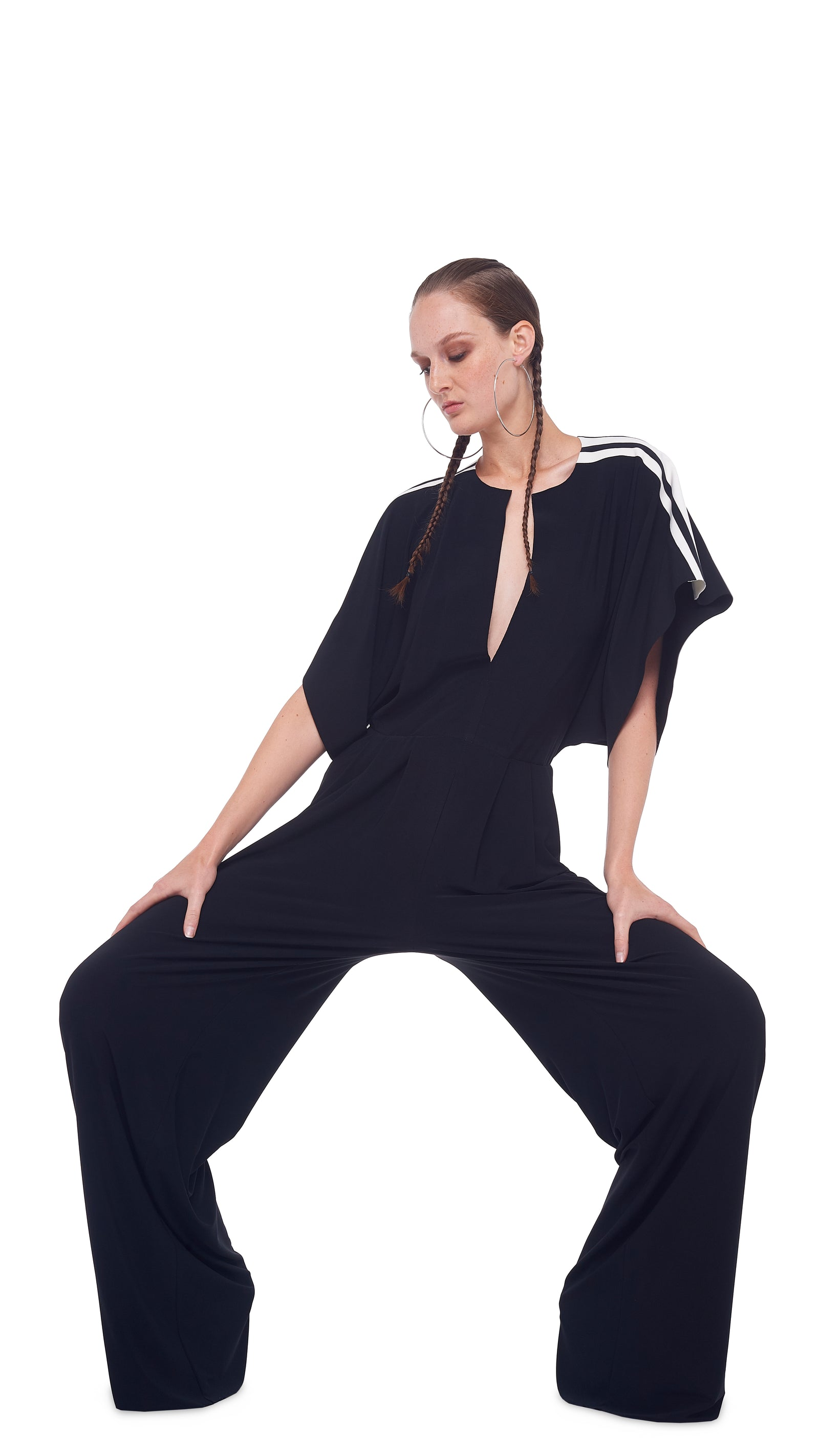 SIDE STRIPE RECTANGLE JUMPSUIT
