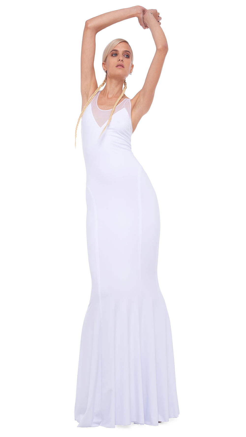 RACER FISHTAIL GOWN