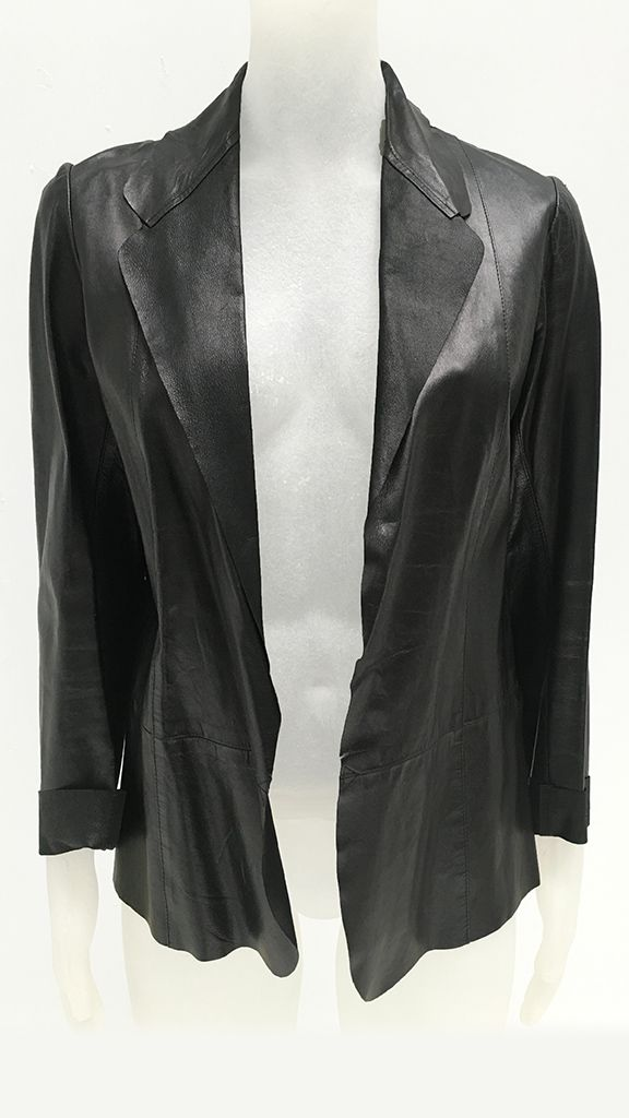 LEATHER UNLINED RAW SB JACKET - 2