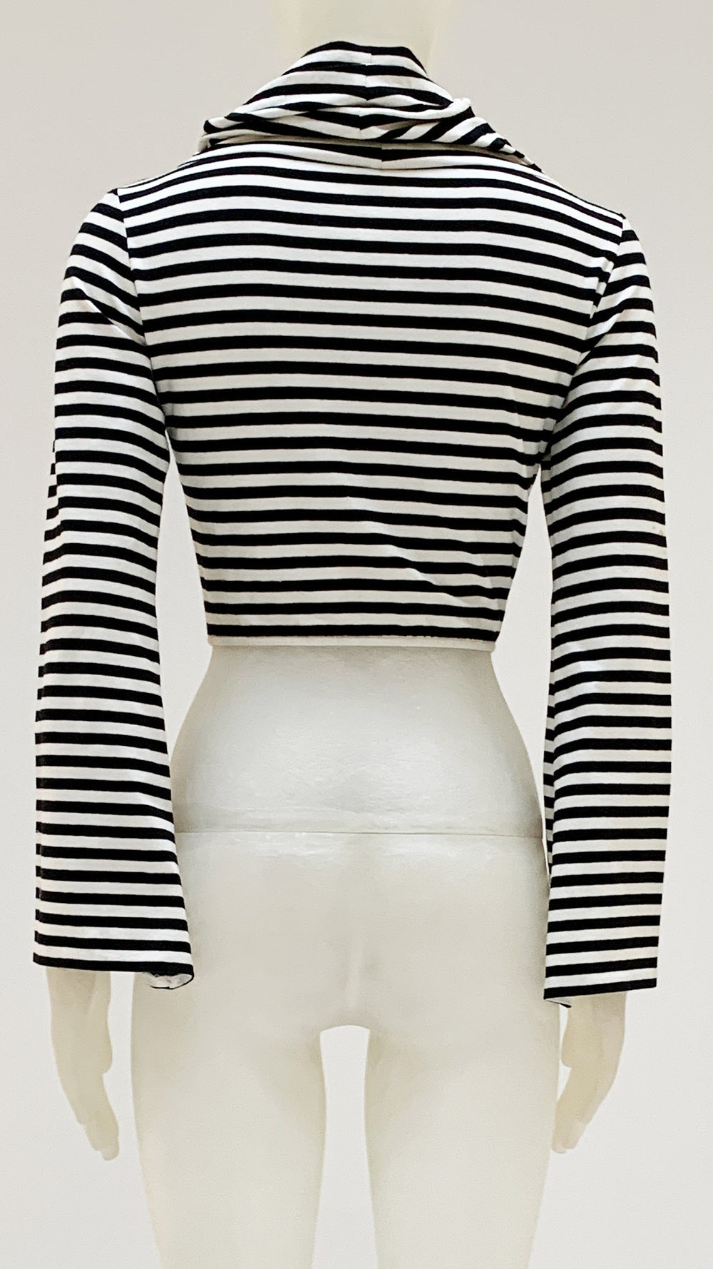 LONG SLEEVE CROPPED TURTLE TOP