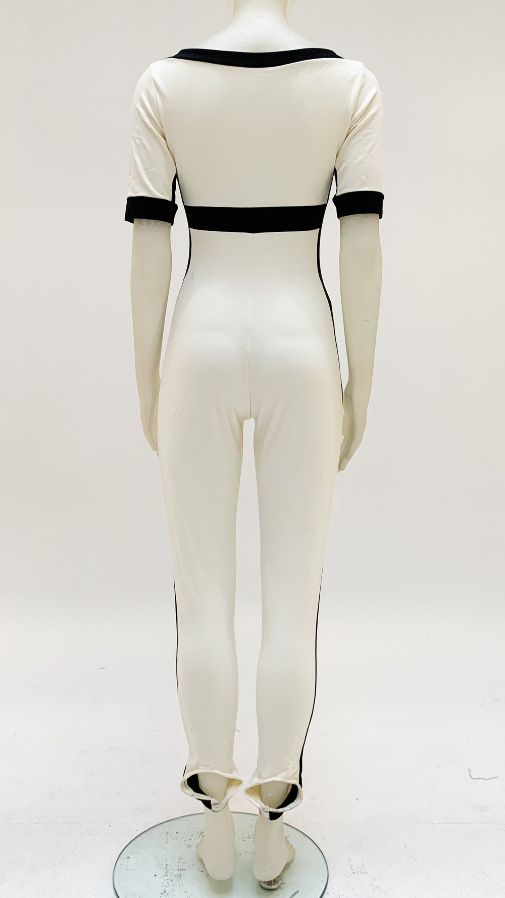 SIDE STRIPE SHORT SLEEVE STIRRUP CATSUIT