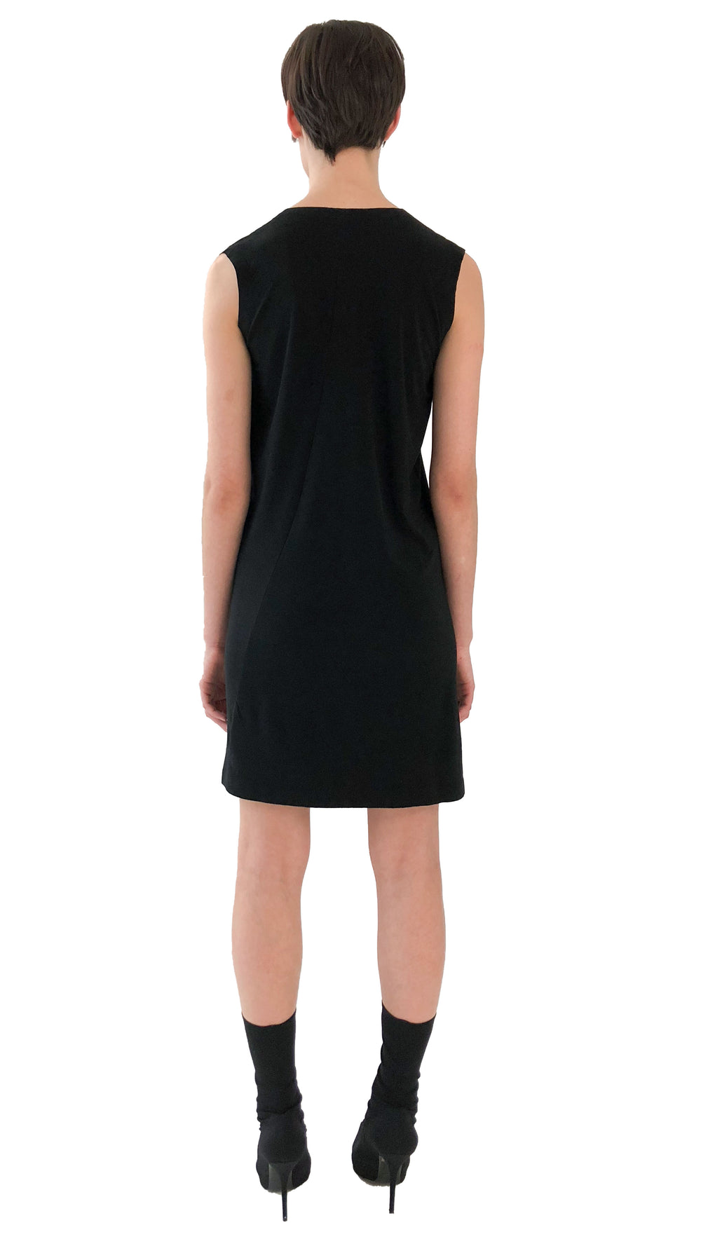 SLEEVELESS U NECK DRESS TO KNEE