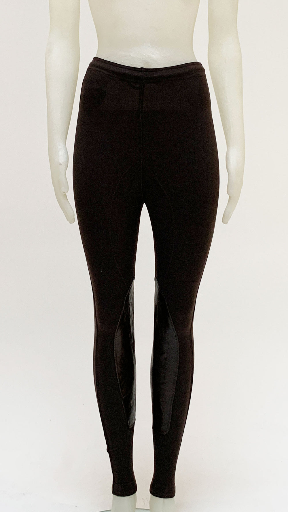 LEGGING WITH LEATHER INSERTS - 1
