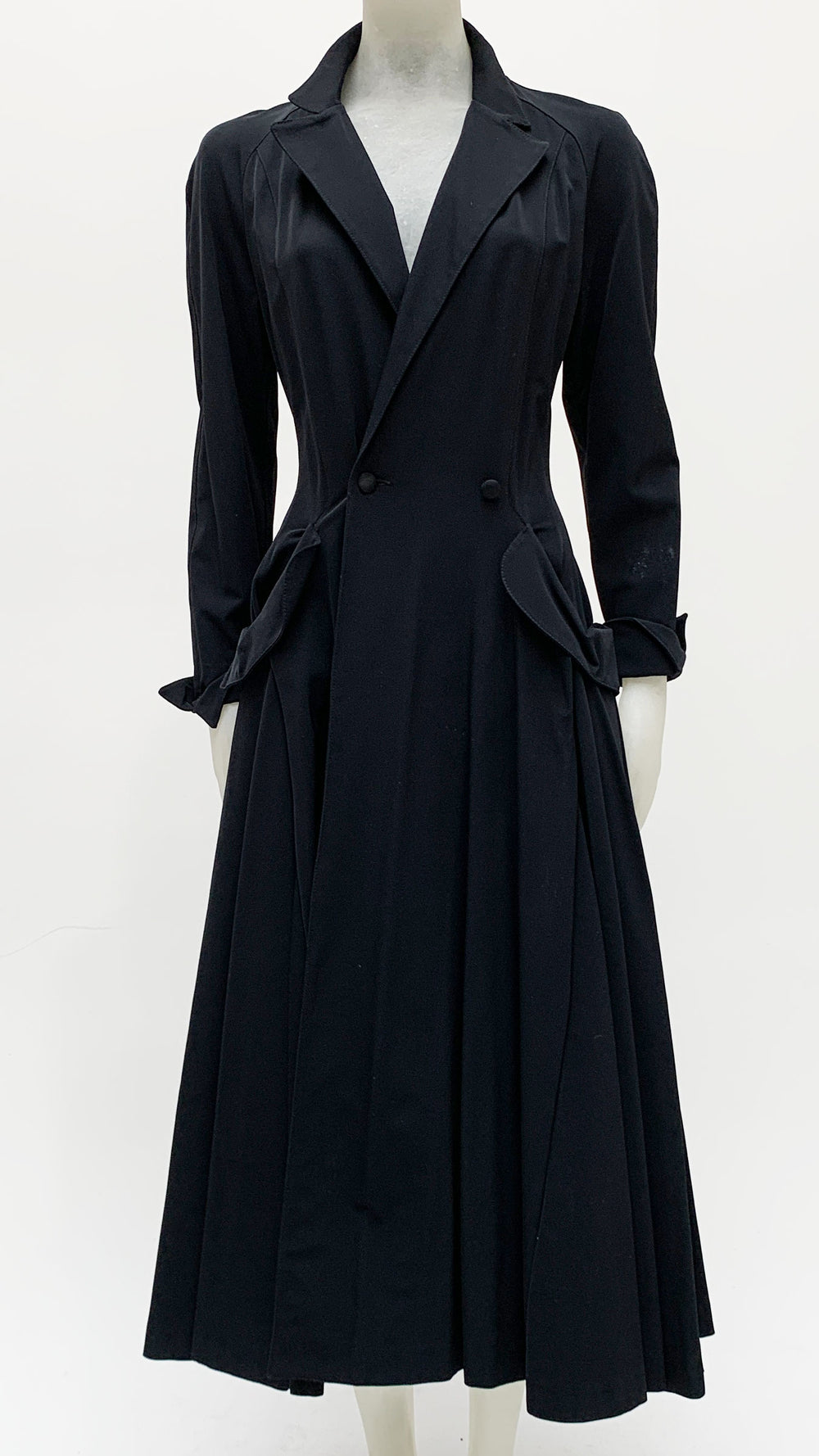 DOUBLE BREASTED COAT DRESS - 1