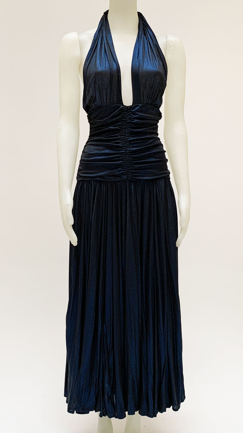 HALTER BILL PLEATED GOWN - 1