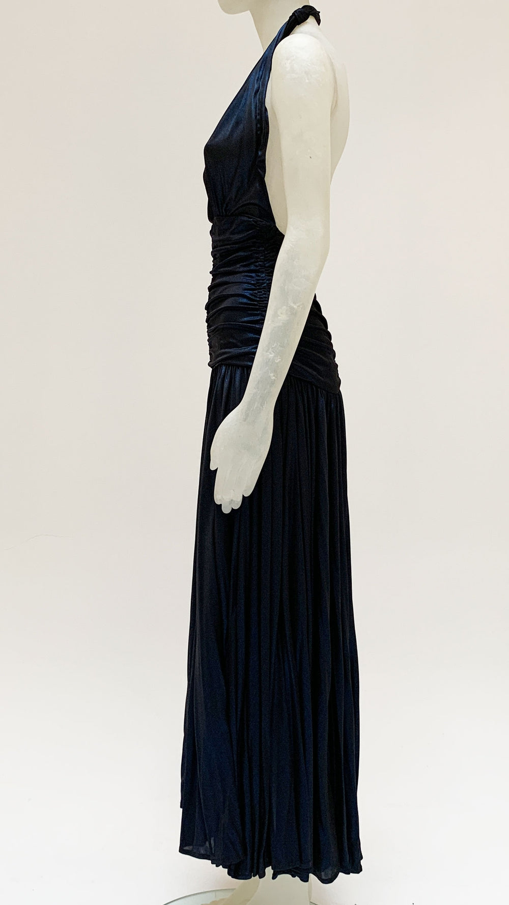 HALTER BILL PLEATED GOWN - 3