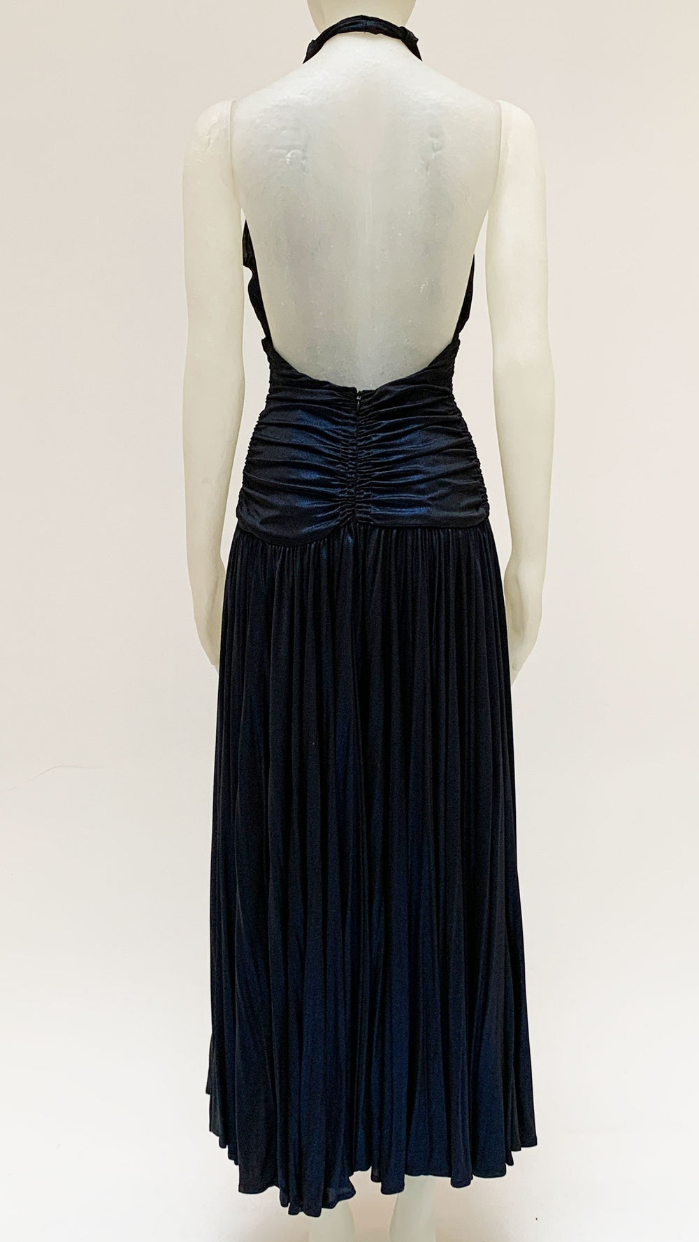 HALTER BILL PLEATED GOWN - 2