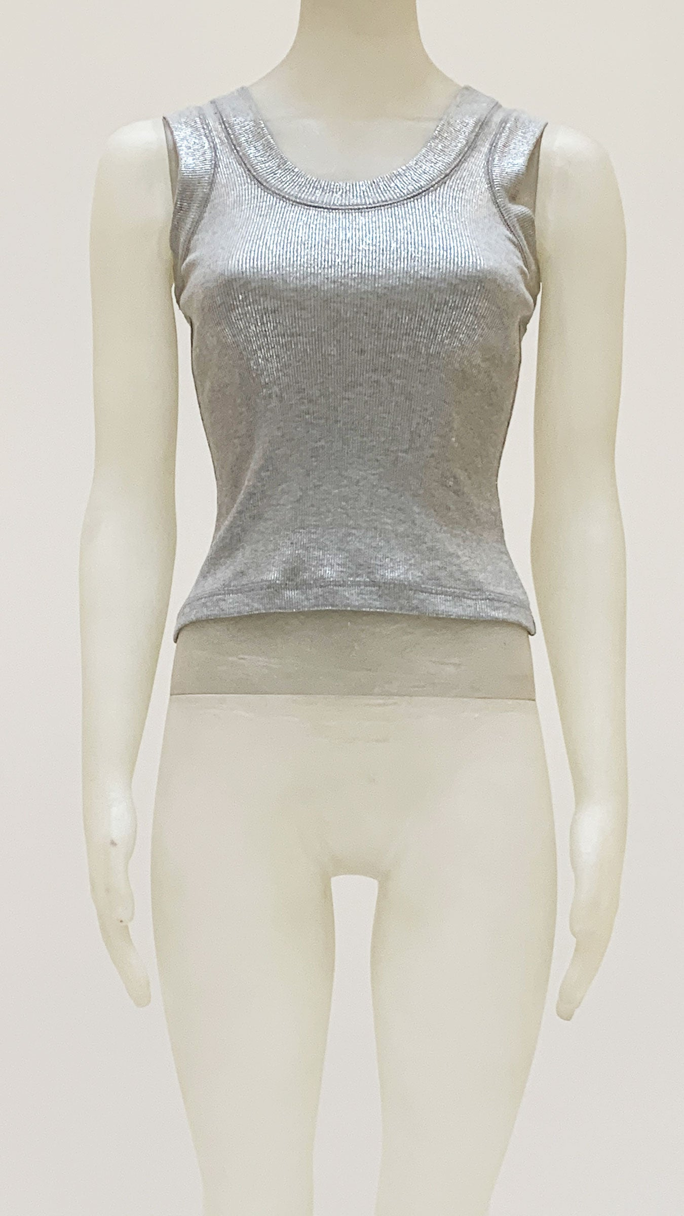 SILVER SPARKLE TERRY RACER TEE - 1