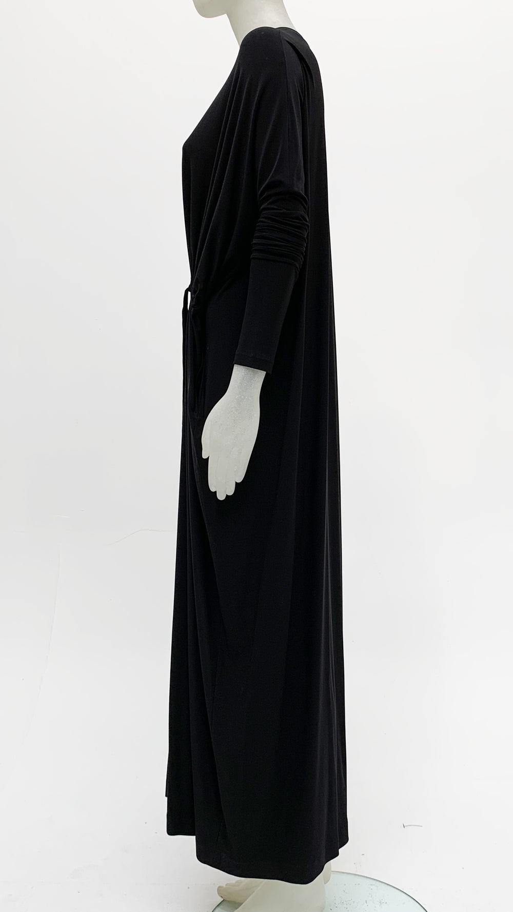 LONG SLEEVE FRONT TIE GOWN - 2
