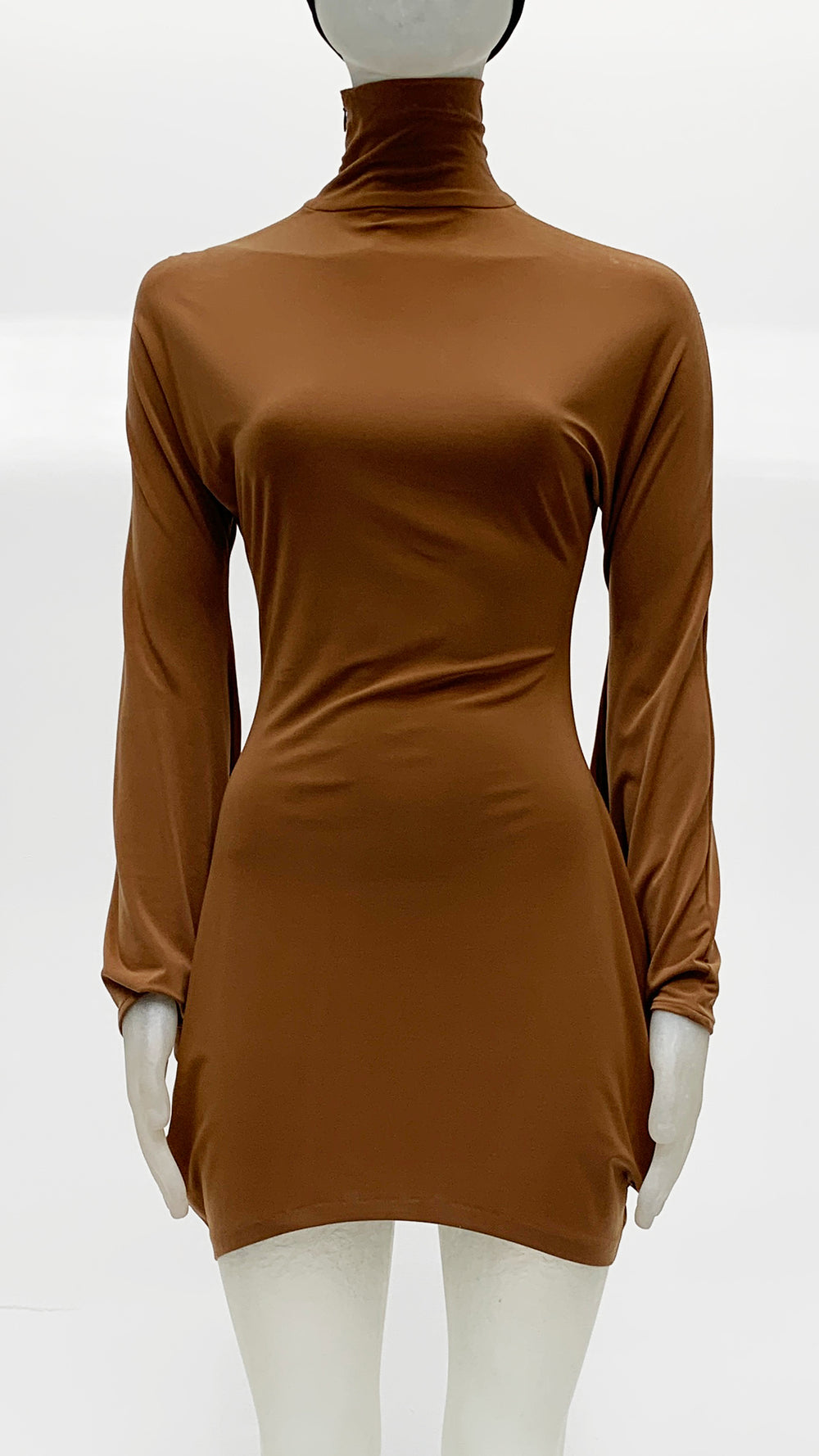 TURTLENECK MODERN SCULPTURE DRESS - 1