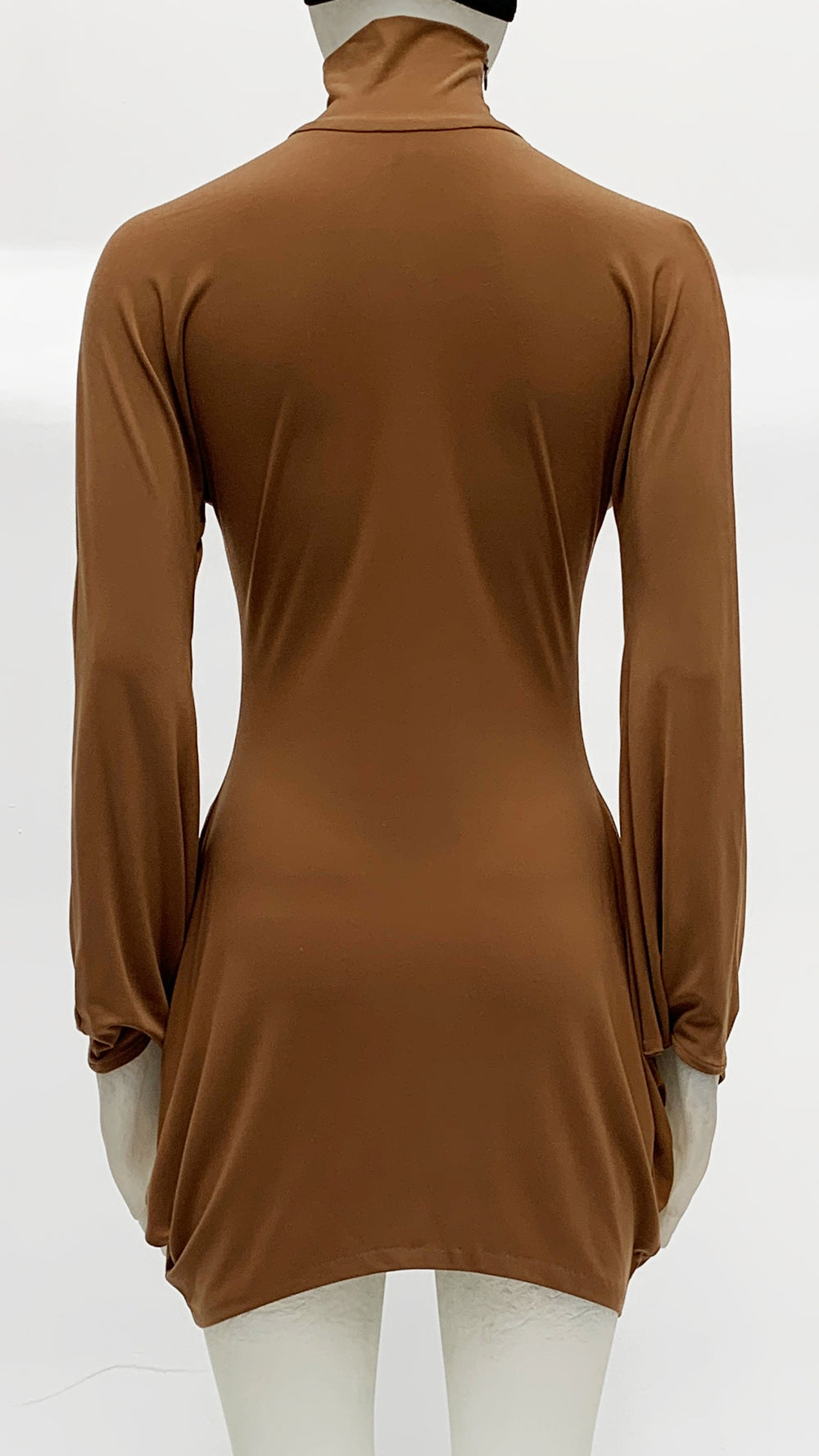 TURTLENECK MODERN SCULPTURE DRESS - 2