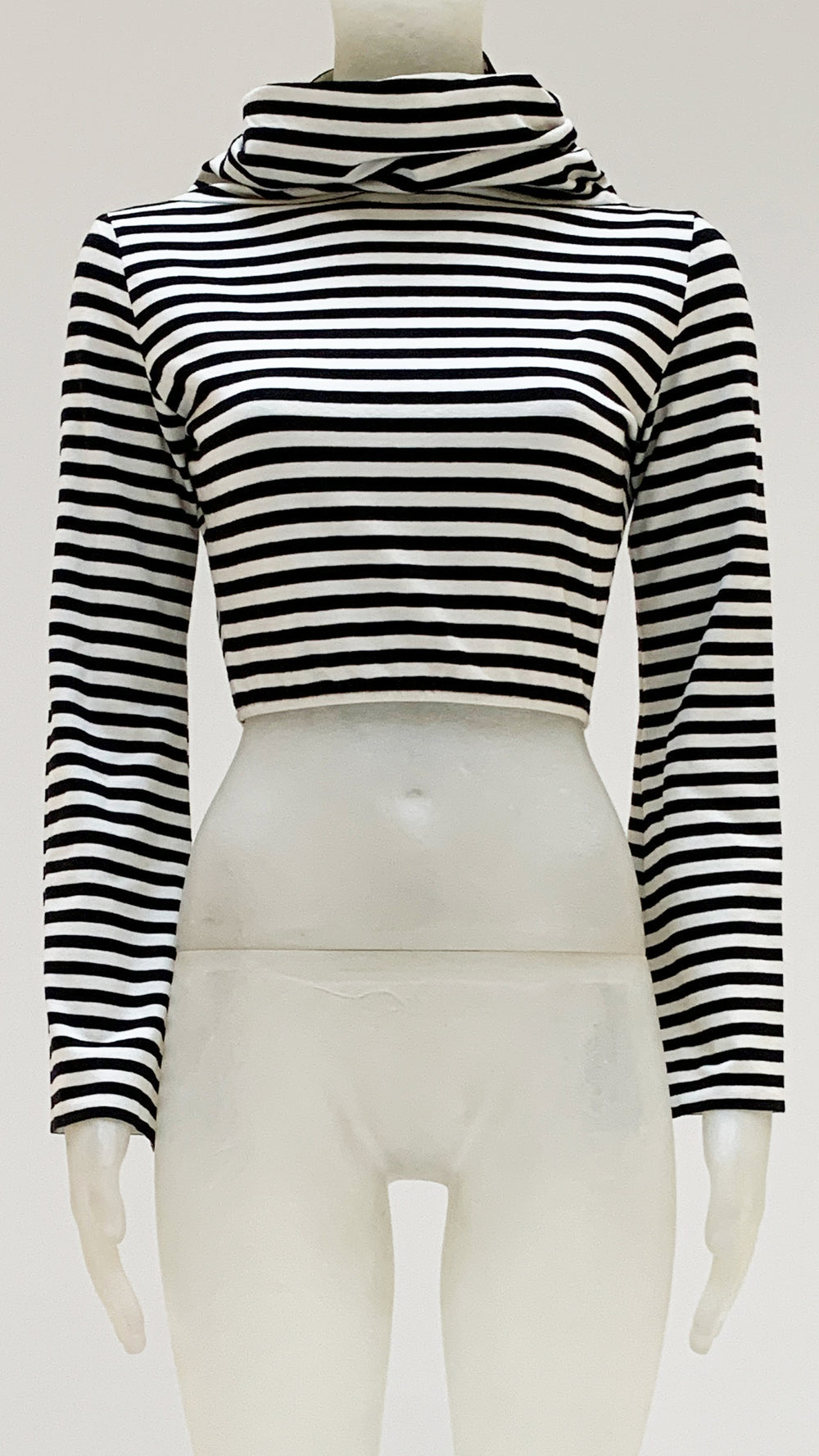 LONG SLEEVE CROPPED TURTLE TOP - 1