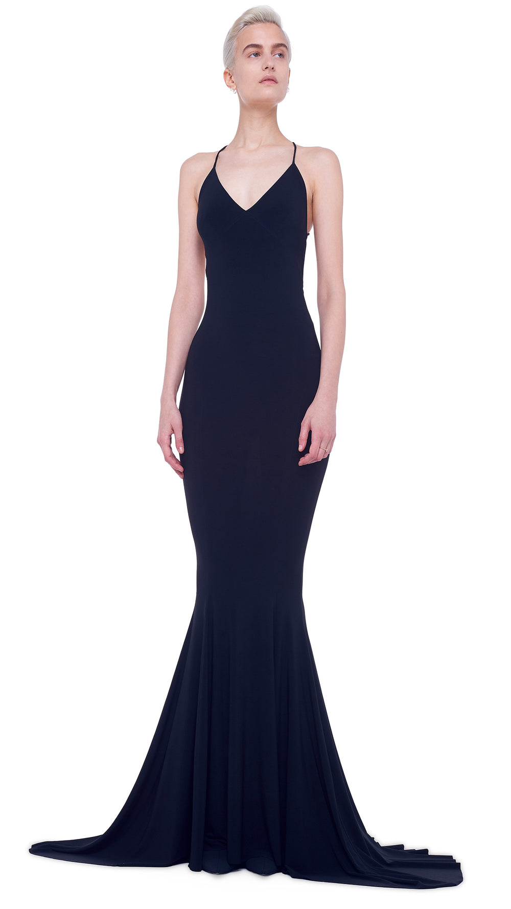 LOW BACK SLIP MERMAID FISHTAIL GOWN - 1