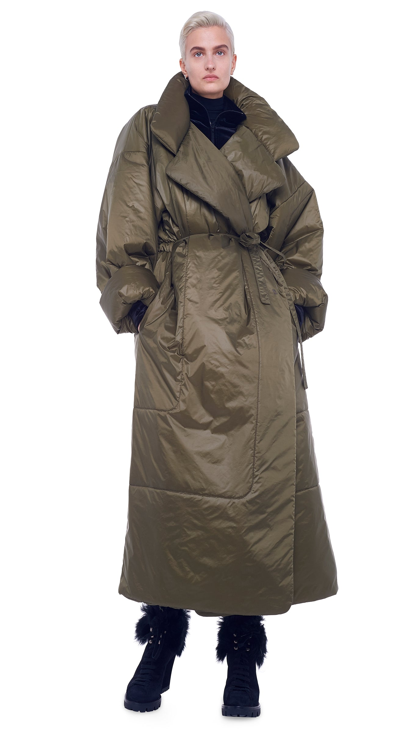 OVERSIZED BOYFRIEND SLEEPING BAG COAT - 1