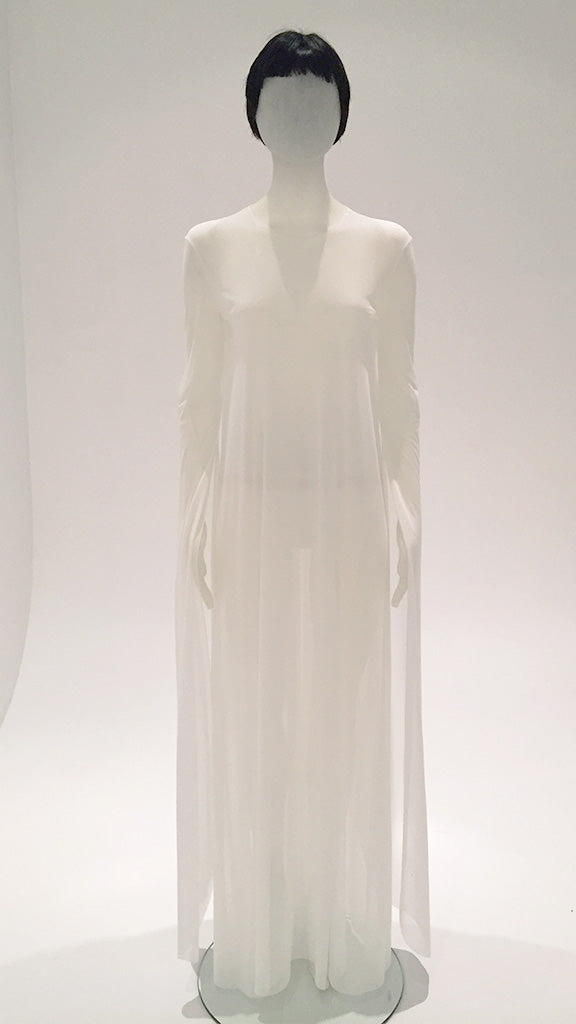 RIBBON SLEEVE GOWN GAUZE - 1