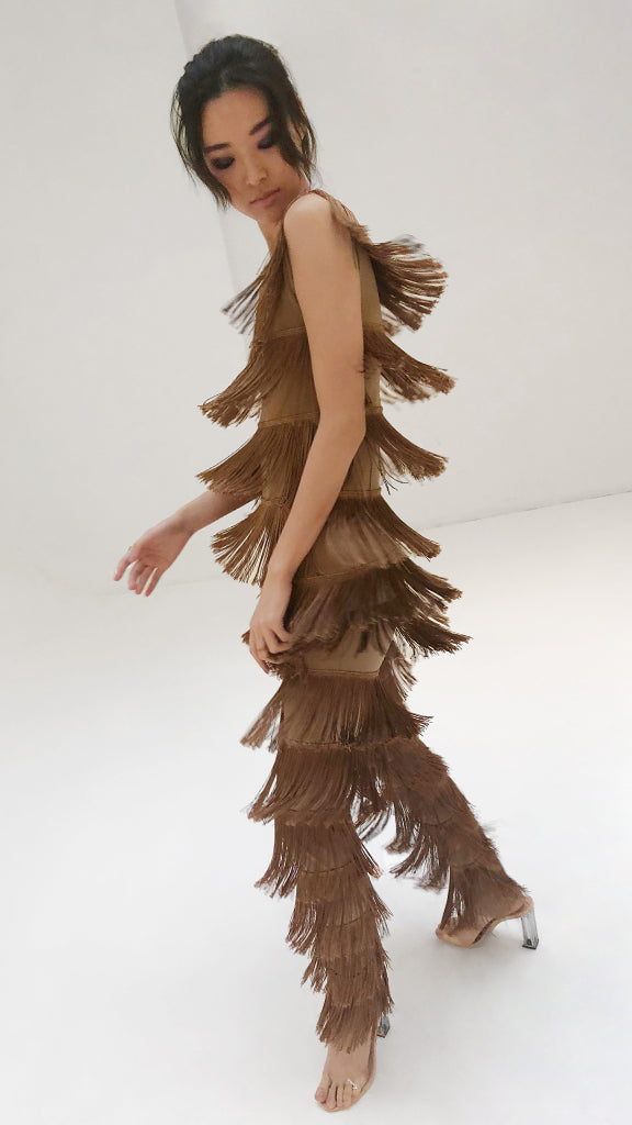 BOOT PANT ALL OVER FRINGE - 1