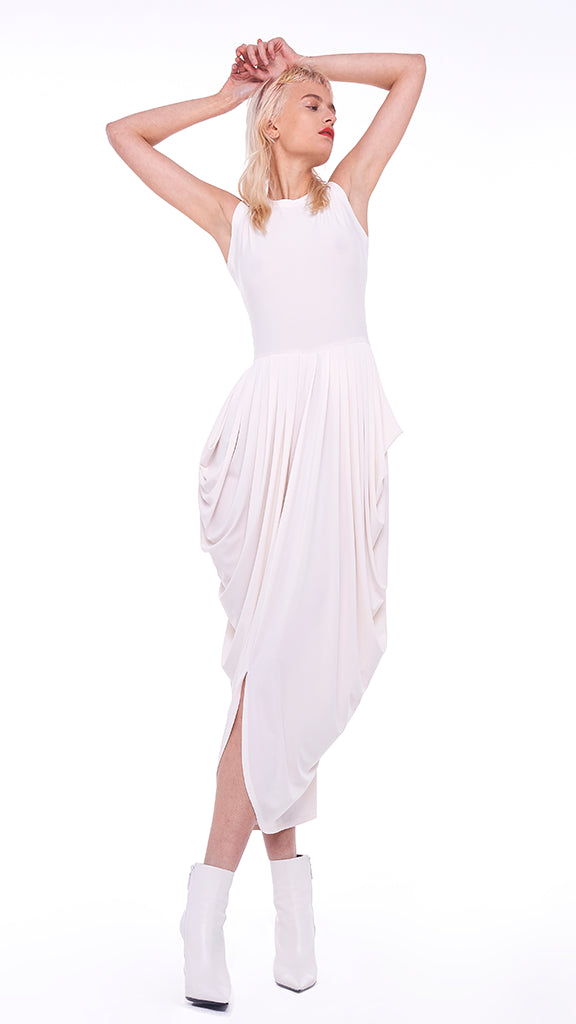 SLEEVELESS WATERFALL DRESS - 1