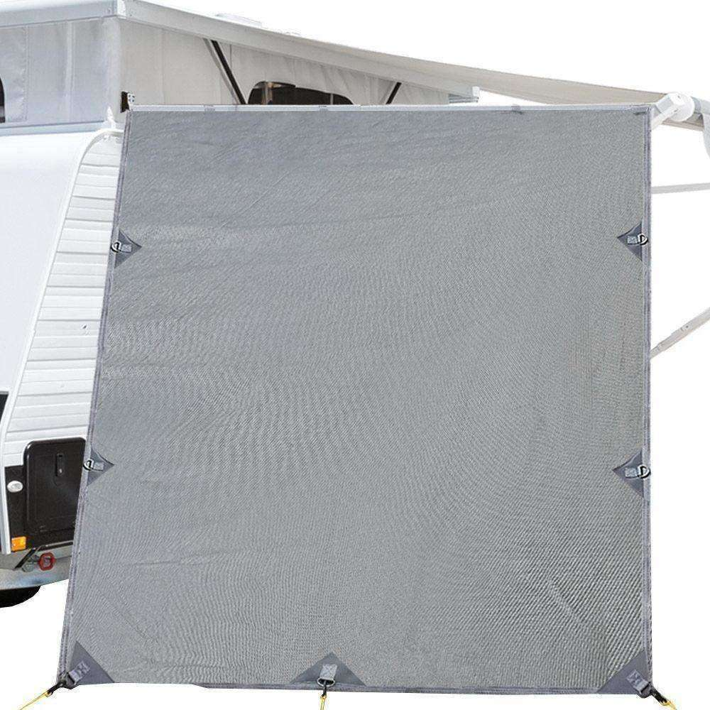 Pop Top Caravan Privacy Screen 2.1 x 1.8M Sun Shade End Wall Roll Out Awning