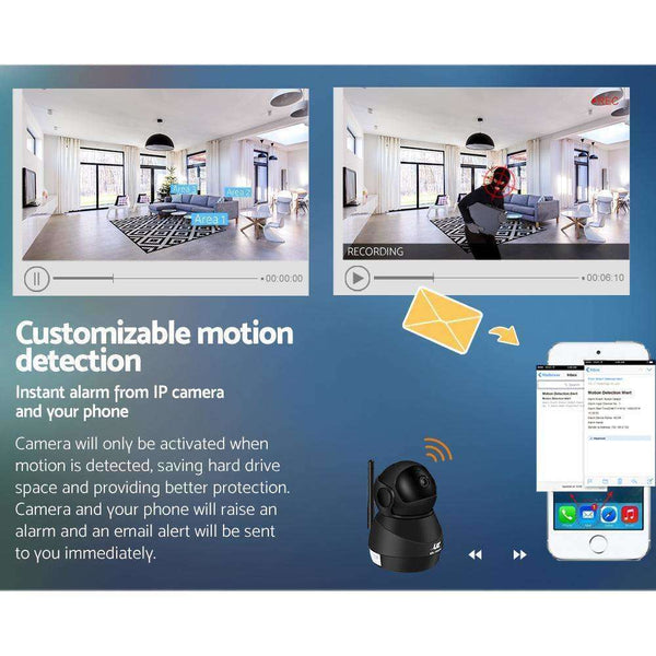 UL-TECH 1080P Wireless IP Camera CCTV Security System Baby Monitor Black